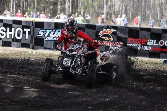 Nick Royalty riding his Honda TRX450R with the Houser Racing Long Travel XC A-Arms