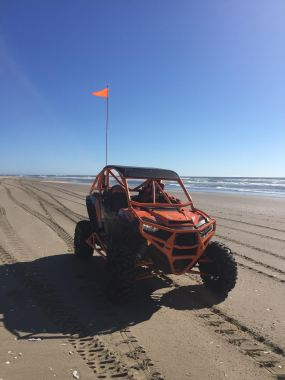 Polaris RZR Turbo Build with Houser Racing Roll Cage, Maximum Protection Front Bumper, Tie-Ins, and Tree Bars in Cosmic Sunburst Orange
