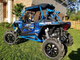 Polaris RZR XP 1000 with Houser Racing R2 Tree Bars in Velocity Blue