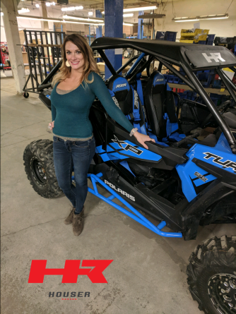Erin Houser showing off the R2 Houser Racing Tree Bars