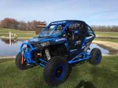 Polaris RZR XP 1000 Build with Houser Racing Roll Cage and Tree Bars in Velocity Blue