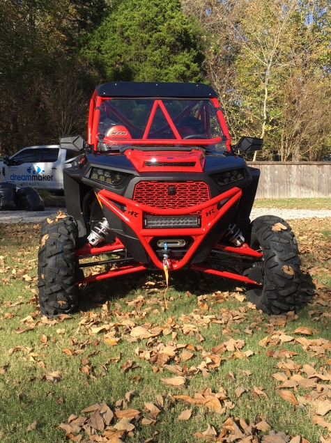 Polaris RZR Build with Houser Racing Roll Cage, and Sport Front Bumper in Indy Red