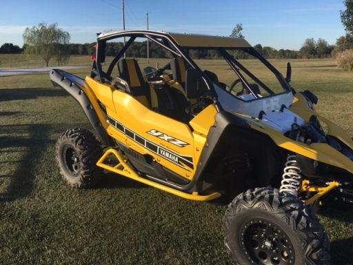 Yamaha YXZ 1000R Build with Houser Racing Roll Cage and Tree Bars in YXZ Yellow