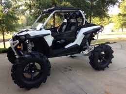 Polaris RZR with Houser Racing Sport Front Bumper and Maximum Protection Rear Bumper