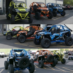Polaris RZRs with Houser Racing Roll Cages and Sport Front Bumpers
