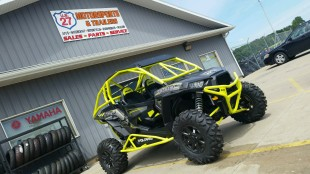 Polaris RZR XP 1000 Build with Houser Racing Roll Cage, Sport Front Bumper, and Tree Bars in Lime Squeeze
