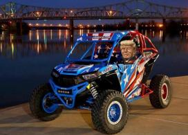 ATV Riders Polaris RZR Turbo Red, White, and Blue Build Featuring Houser Racing Roll Cage, Sport Front Bumper, Lower Front MGC A-Arms, and Tree Bars