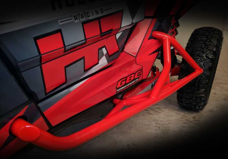 RS1 Tree Bars Front View Indy Red